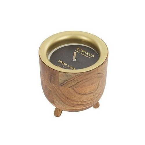 REWINED CANDLES, SPIKED CIDER BARREL AGED CANDLE